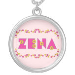 Zena en el rosa de Flores Grimpolas Personalizadas
