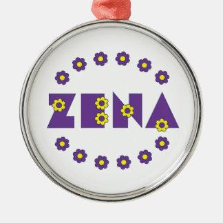 Zena Flores Metal Ornament