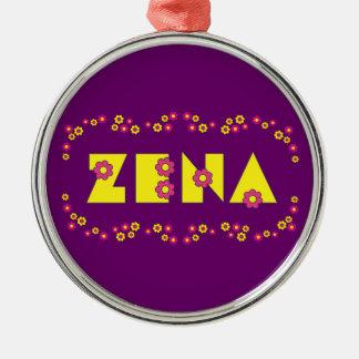 Zena in Flores Yellow Metal Ornament