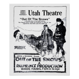 Zena Keefe 1920 vintage movie ad poster