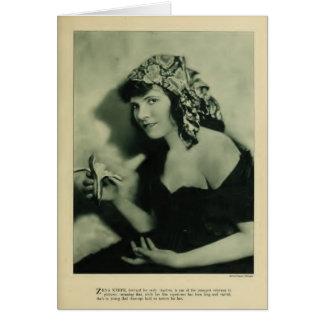 Zena Keefe 1920 vintage portrait card