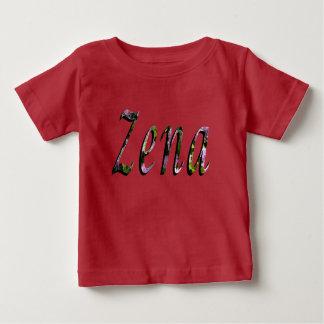 Zena, Name, Logo, Baby Girls Red T-shirt