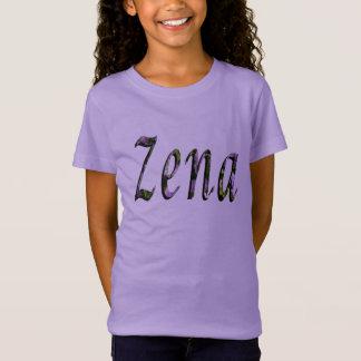 Zena, Name, Logo, Girls Lavender T-shirt. T-Shirt