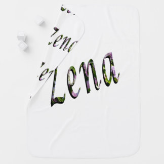 Zena, Name, Logo, White Snugly Baby Blanket. Baby Blanket