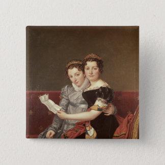 Zenaide  and Charlotte  Bonaparte, 1822 Pinback Button