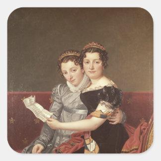 Zenaide  and Charlotte  Bonaparte, 1822 Square Sticker