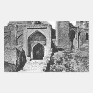 Zenda Mosque in Samarqand, ca. 1914 Rectangular Sticker