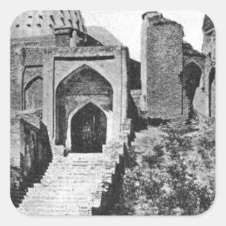 Zenda Mosque in Samarqand, ca. 1914 Square Sticker