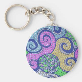 Zendala Colorized Mandala Drawing Basic Round Button Keychain