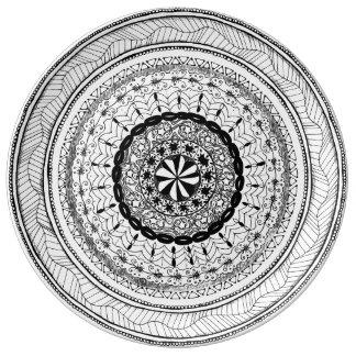 "Zendala ""Meer"" Porcelain Plate Porcelain Plate"