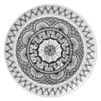 "Zendala ""Ona"" Melamine Plate Party Plate"