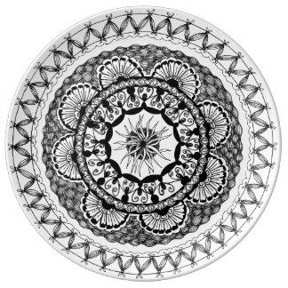 "Zendala ""Ona"" Porcelain Plate Porcelain Plate"