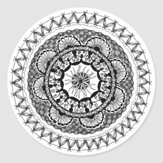 "Zendala ""Ona"" Round Sticker"