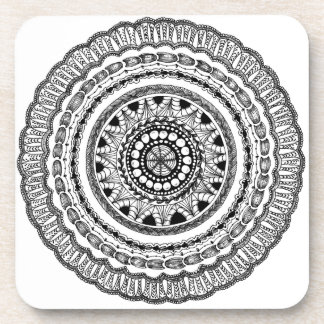 "Zendala ""Queste"" Hard Plastic Coasters"