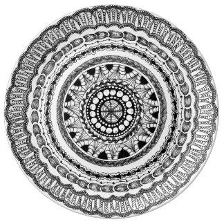 """Zendala """"Queste"""" Porcelain Plate"""