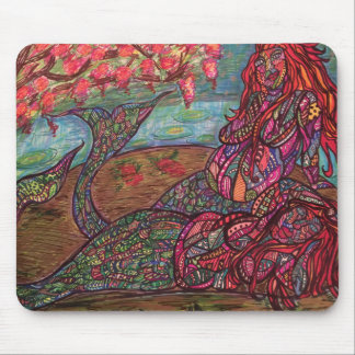 Zendoodle healthy mermaids mouse pad