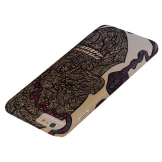 Zendoodle skull/snake barely there iPhone 6 plus case