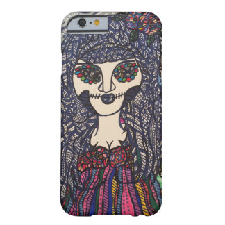Zendoodle zombie colorful girl. barely there iPhone 6 case