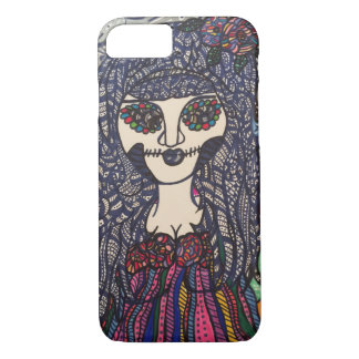 Zendoodle zombie colorful girl. iPhone 8/7 case