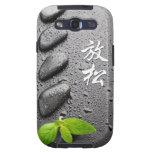 ZENES Stone de relajación con las hojas de menta Galaxy S3 Protector
