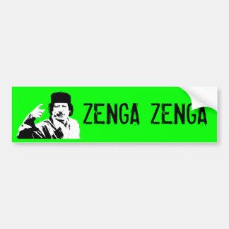 ¡Zenga Zenga! (edición técnica) Etiqueta De Parachoque