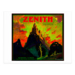 Zenith Orange LabelWhittier, CA Post Card