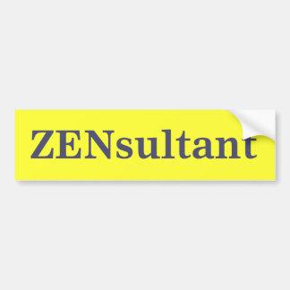ZENsultant Bumper Sticker