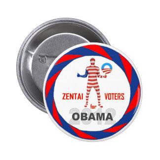 Zentai Voters for Obama 2012 Pinback Button