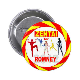 Zentai voters for Romney 2012 Button