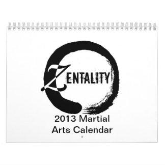 Zentality 2013 Martial Arts Themed Calendar