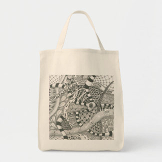 zentangle by The Ragged Edge Canvas Bags