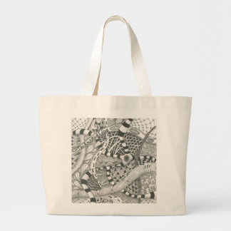zentangle by The Ragged Edge Canvas Bag