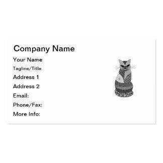 Zentangle Cat Business Card Template