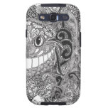 Zentangle  Cheshire Cat Design Galaxy SIII Cover