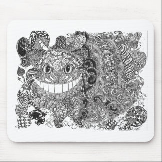 Zentangle  Cheshire Cat Design Mouse Pads