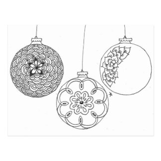 zentangle decorations 2 post cards