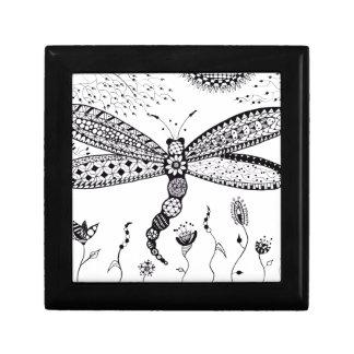 Zentangle Dragonfly Jewelry Box