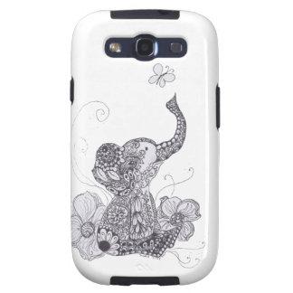 Zentangle Elephant Butterfly Galaxy S3 Case