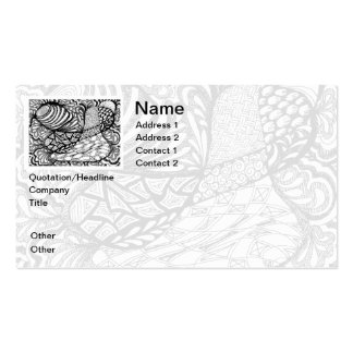 Zentangle en pluma y tinta tarjetas de visita