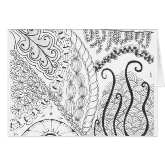 zentangle floral greeting card