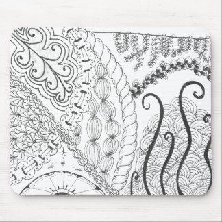 zentangle floral mousepads