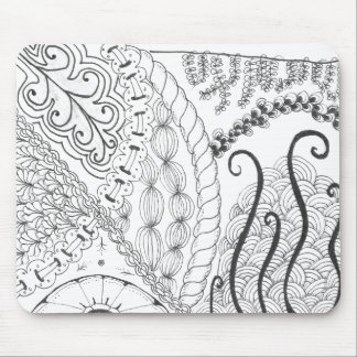 zentangle floral tapetes de ratón