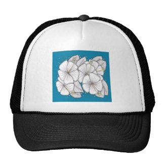 Zentangle Hibiscus with Paradise Blue Sky Trucker Hats