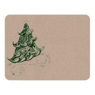 Zentangle Holiday Tree Invitations