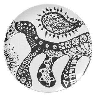 Zentangle Horse Plate
