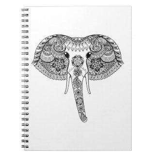 Zentangle Inspired Indian Elephant Notebook