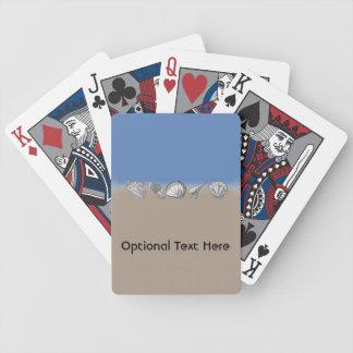 Zentangle-Inspired Seashell Drawing Art Poker Deck