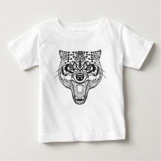 Zentangle Inspired Wolf Baby T-Shirt