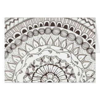 zentangle mandala - butterflies cards