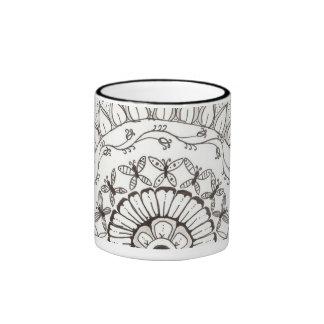 zentangle mandala - butterflies mug